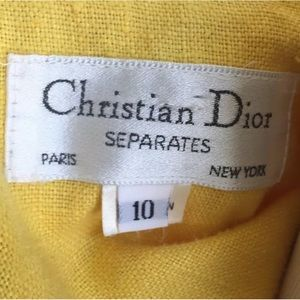 CHRISTIAN DIOR 80's Sunshine Yellow Linen Jacket
